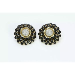 Limited Edition Judith Leiber flower earrings